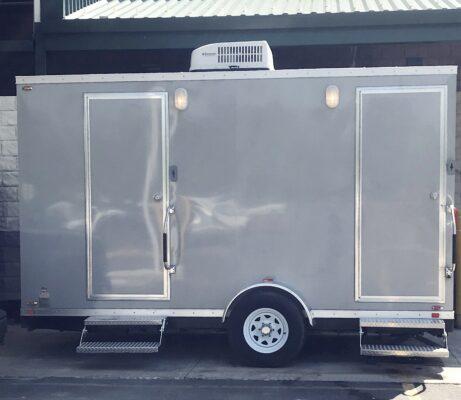 5 Stall Restroom Trailer Exterior | Noah's Ark Port-A-Jons